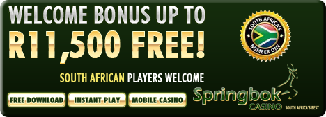 Springbok Online Casino - Claim your R11'500 Welcome Bonus