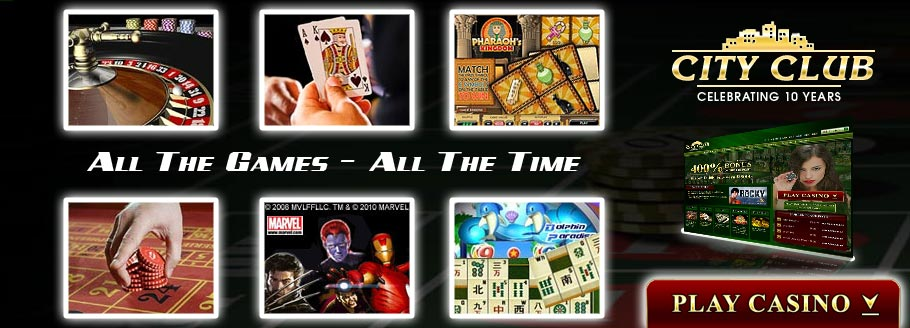 City Club Casino - All The Games - All The Time