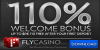 Get The 110% Match On Your First Deposit At Fly Casino