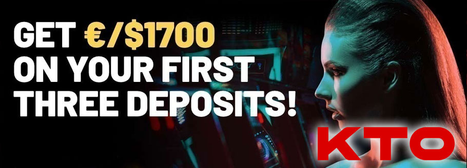 KTO Casino - 1700 First 3 Deposits Bonus