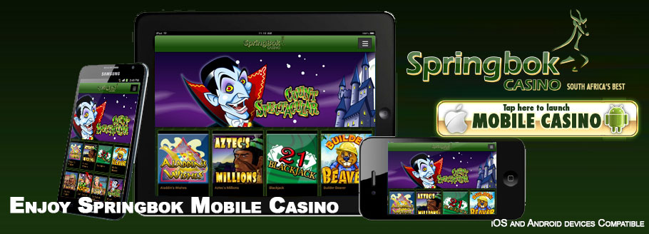 Play At Springbok Anytime Anywhere Using Your Mobile Device