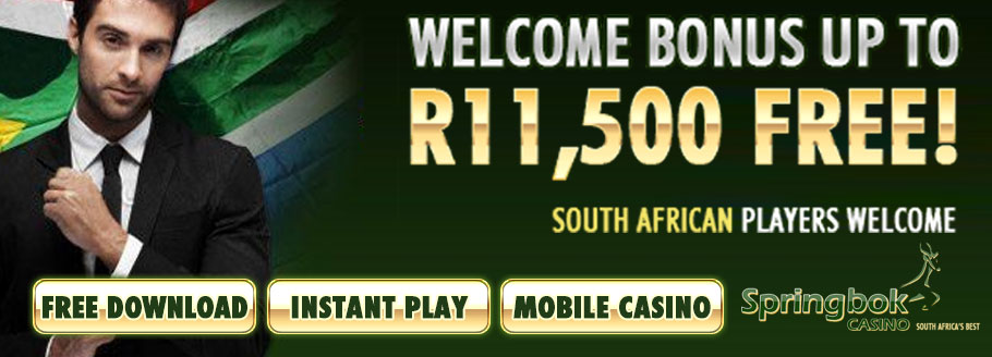 R11'500 3-Step Welcome Bonus At Springbok Casino