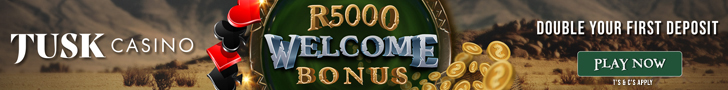 Tusk Casino R5000 Welcome Bonus Bonus