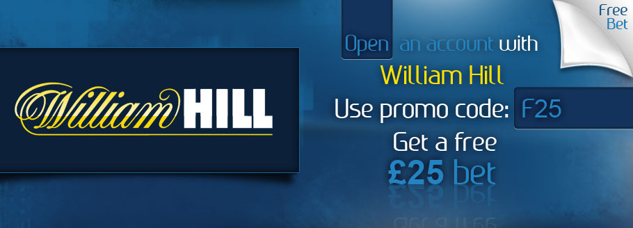 Open An Account At William Hill Sport and get Free Bets